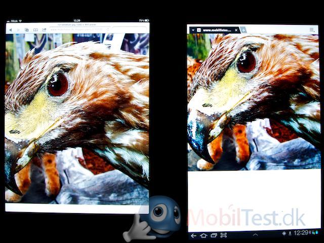 Galaxy Tab 10.1 til højre