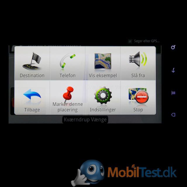 GPS-menu