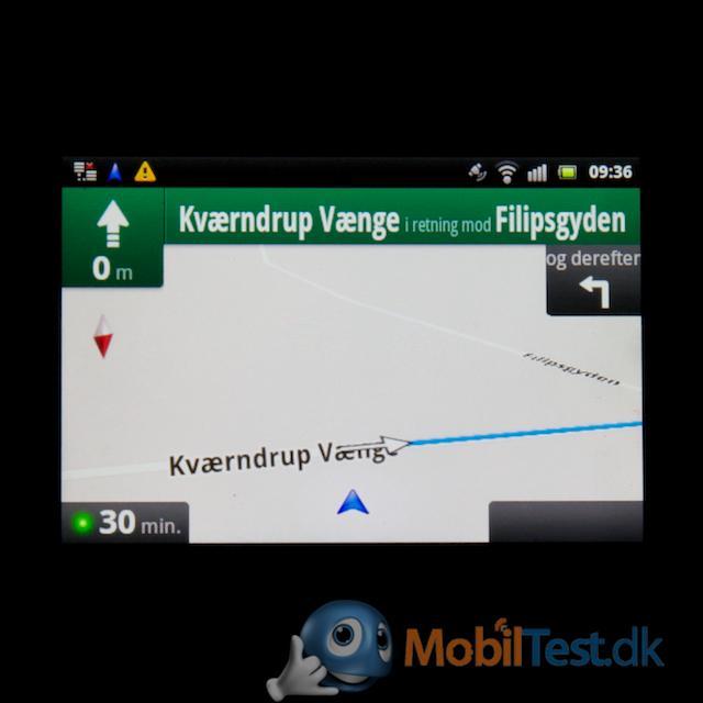 Google Maps navigering