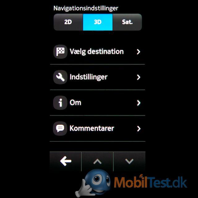 GPS-indstillingsmenu