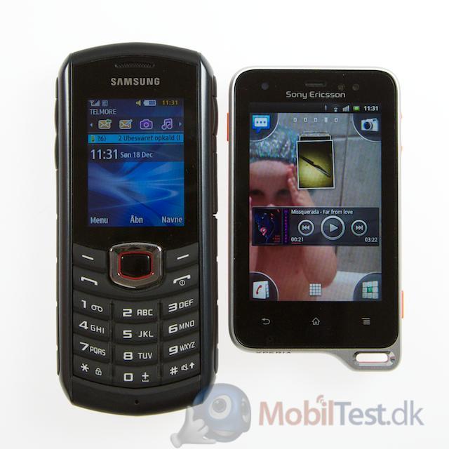 Samsung Xcover 271 og Xperia Active