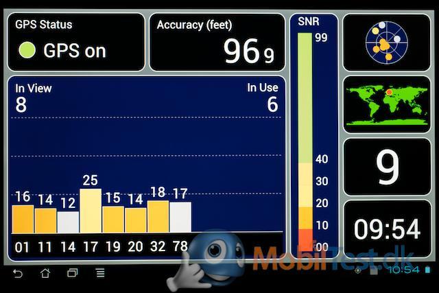 GPS-modtager måle-app