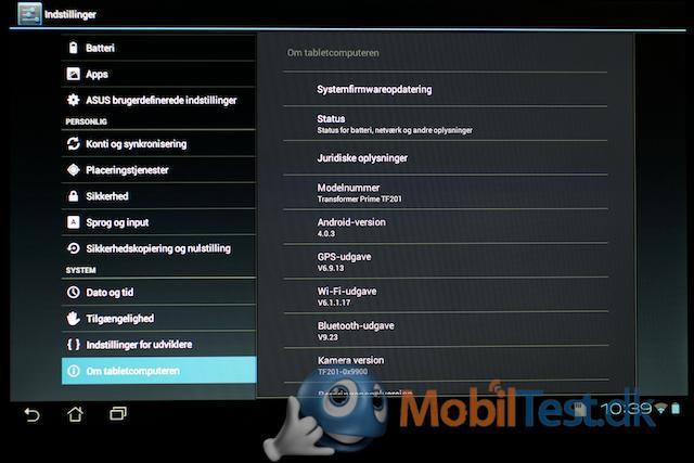 Bemærk Android 4.0.3