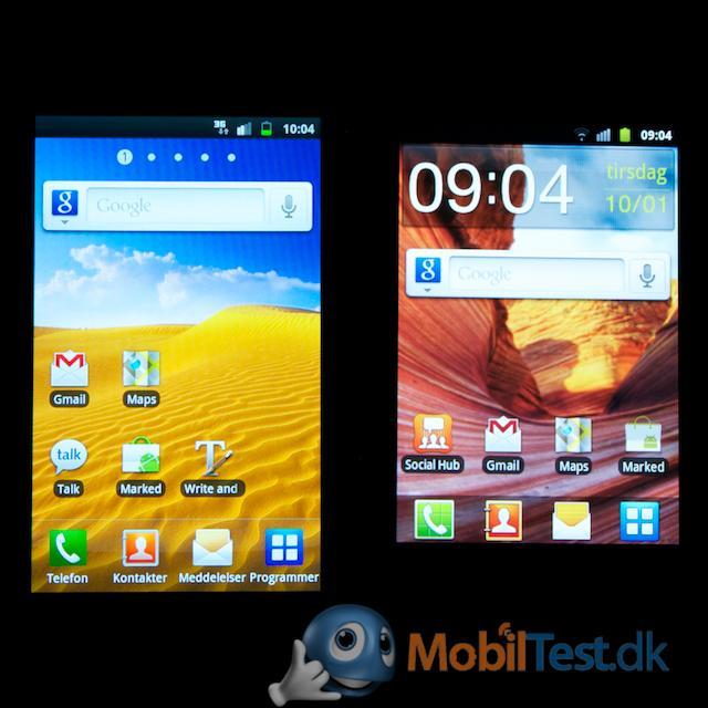 Galaxy Ss og Xcovers skærm
