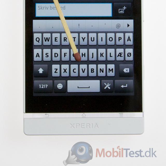 QWERTY-tastatur i lodret