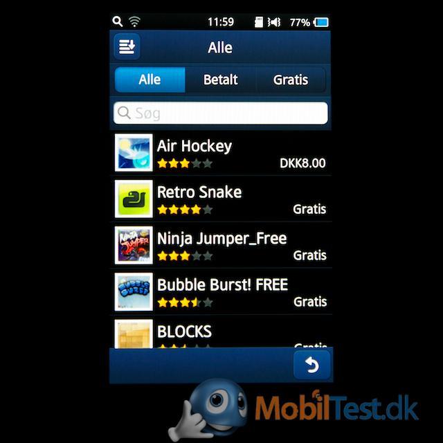 Begrænset antal apps