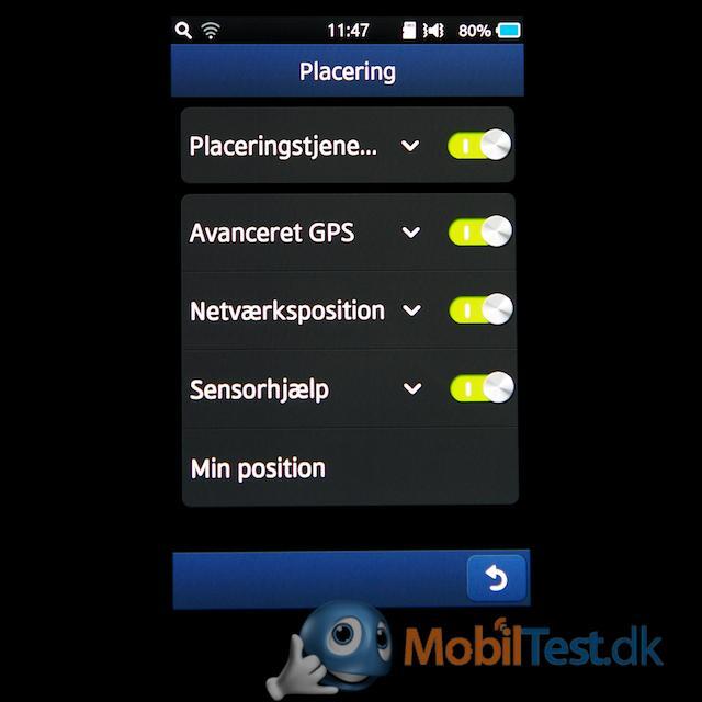 GPS-indstillinger