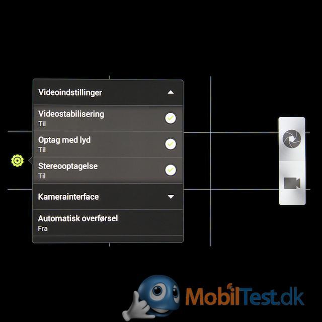 Bemærk videostabilisator