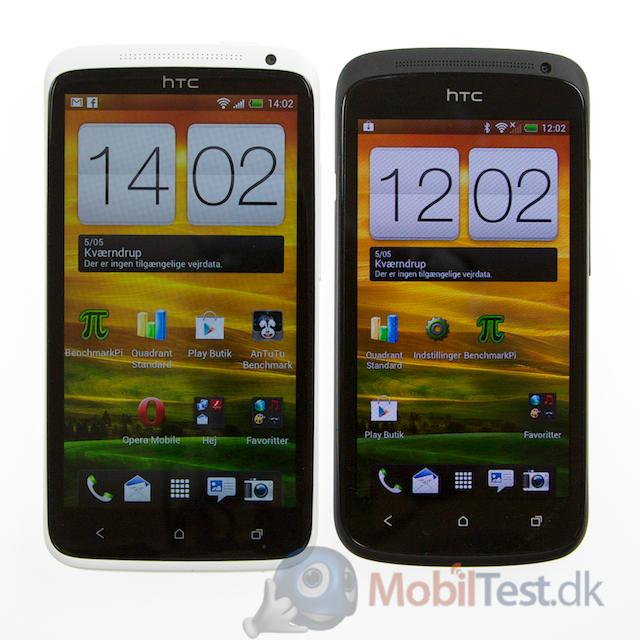 HTC One X ved siden af One S
