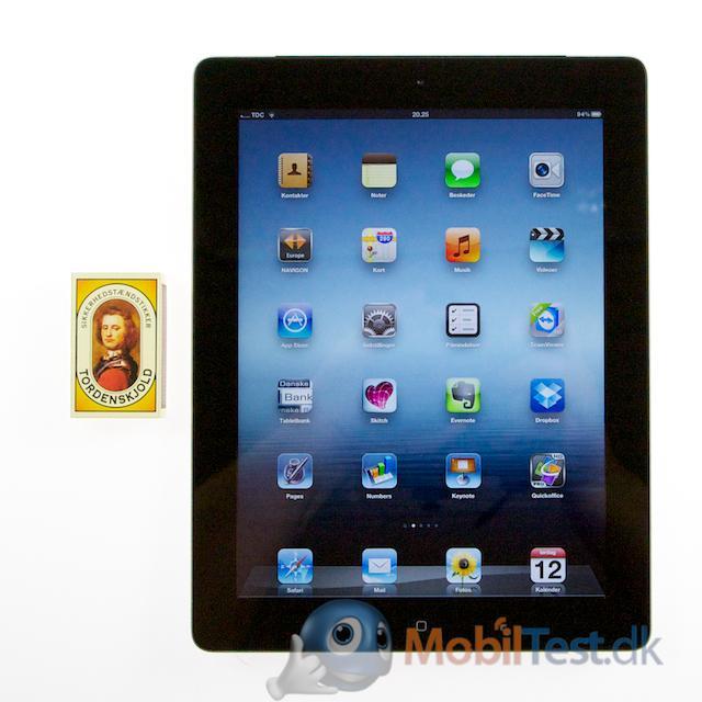 iPad 3 ved siden af tændstikæsken