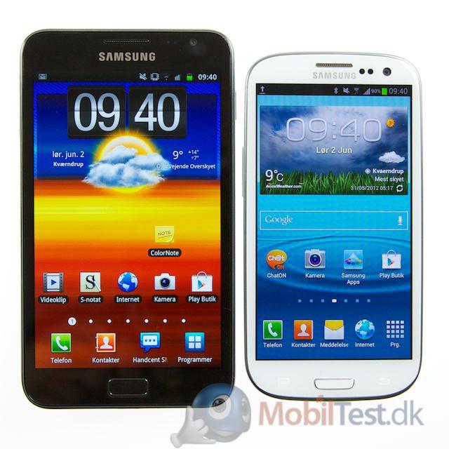 Galaxy Note og Galaxy S3