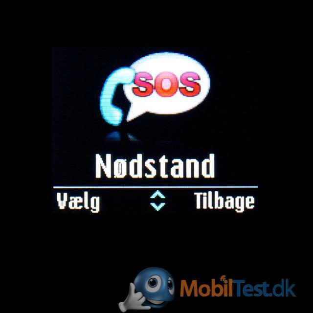SOS-menu