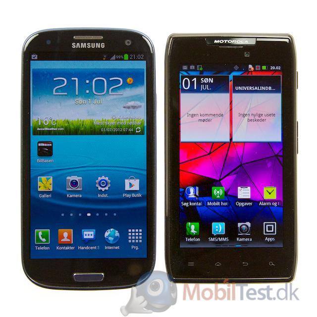 RAZR MAXX og Galaxy S3