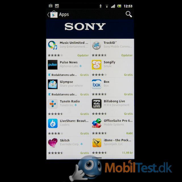Dedikeret Sony Apps butik