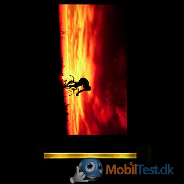Skærmbillede med lysbar
