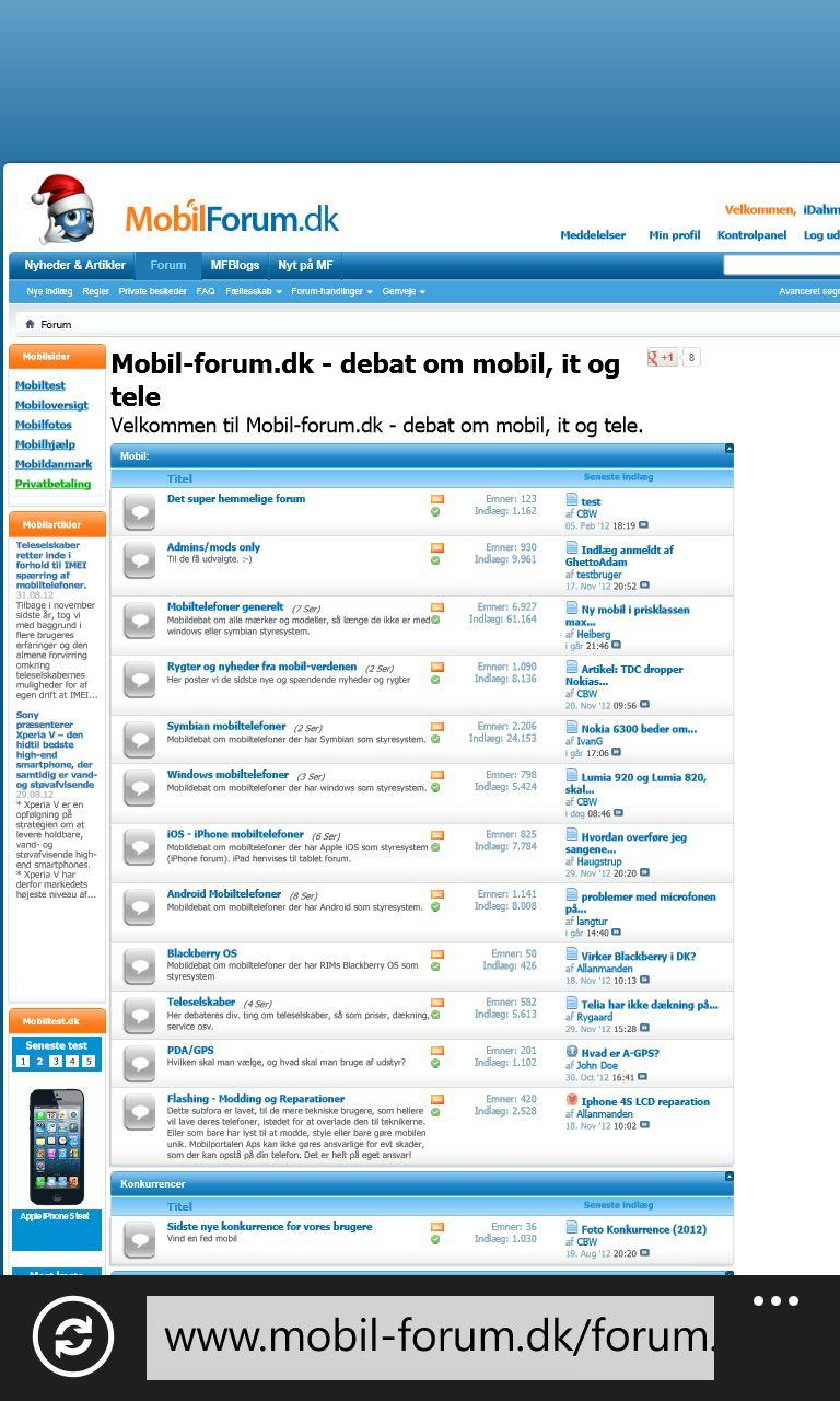 mobilforum i desktopversion