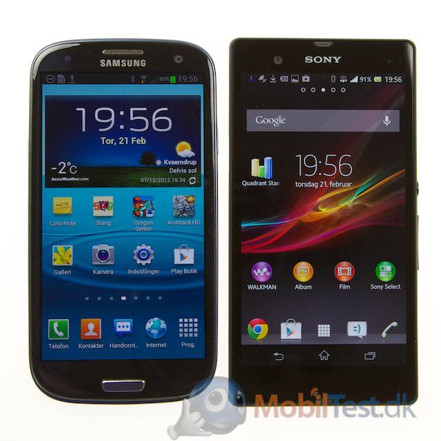 Galaxy S3 og Xperia Z