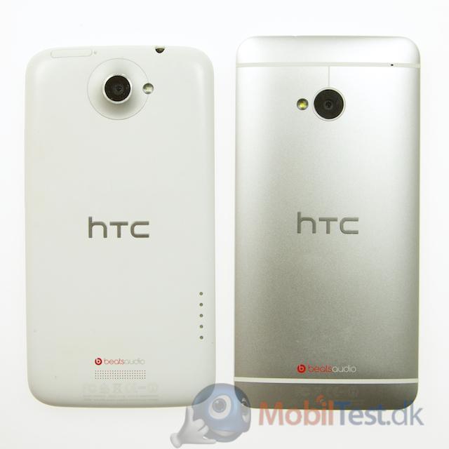 Bagsiden af HTC One X og HTC One