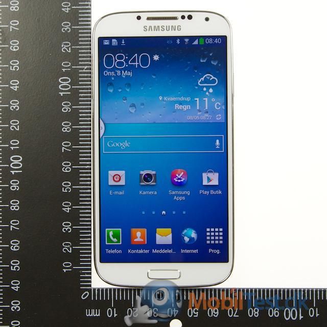 Galaxy S4 med målepind