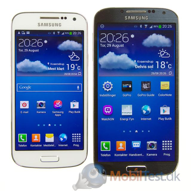 S4 Mini og Galaxy S4