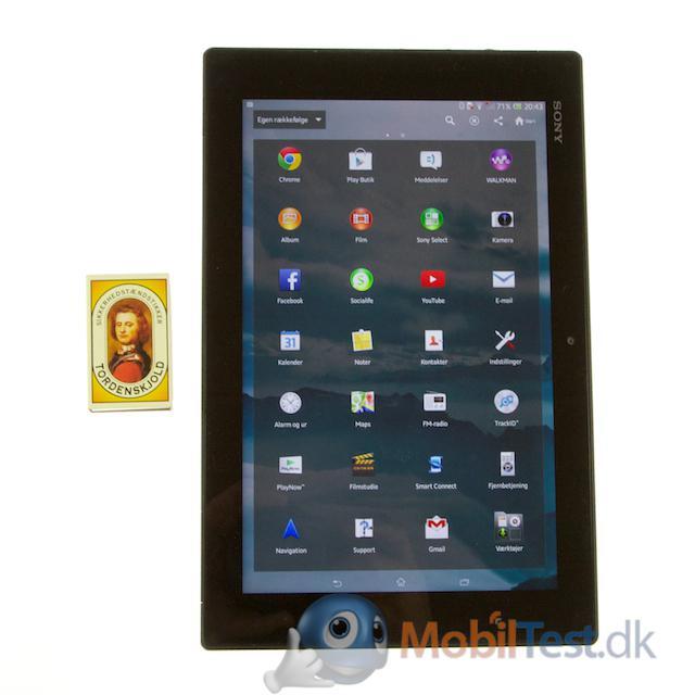 Xperia Tablet Z og tændstikæsken
