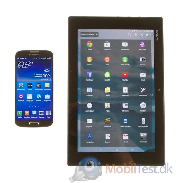 Skærmens størrelse i forhold til smartphone