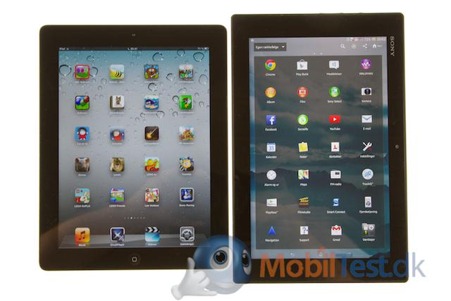 IPad og Xperia Tablet Z