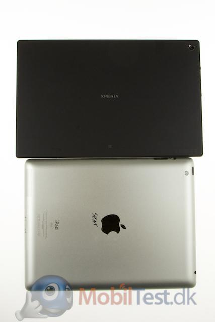 Bagsiden sammen med iPad