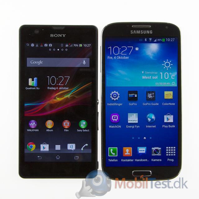 Xperia ZR og Galaxy S4