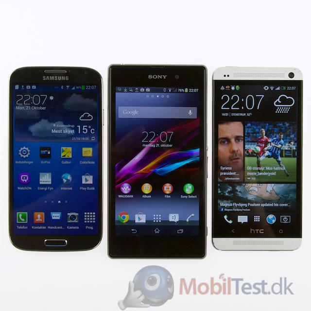 Galaxy S4, Xperia Z1 og HTC One