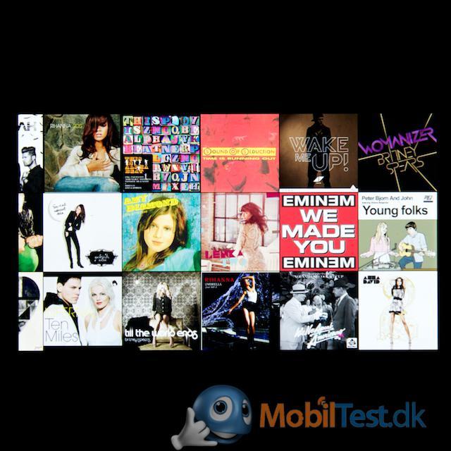 Albumoversigt på iPhone 5C