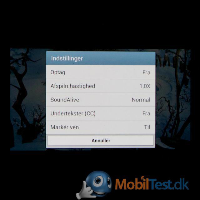 Videoindstillinger på S4 Mini