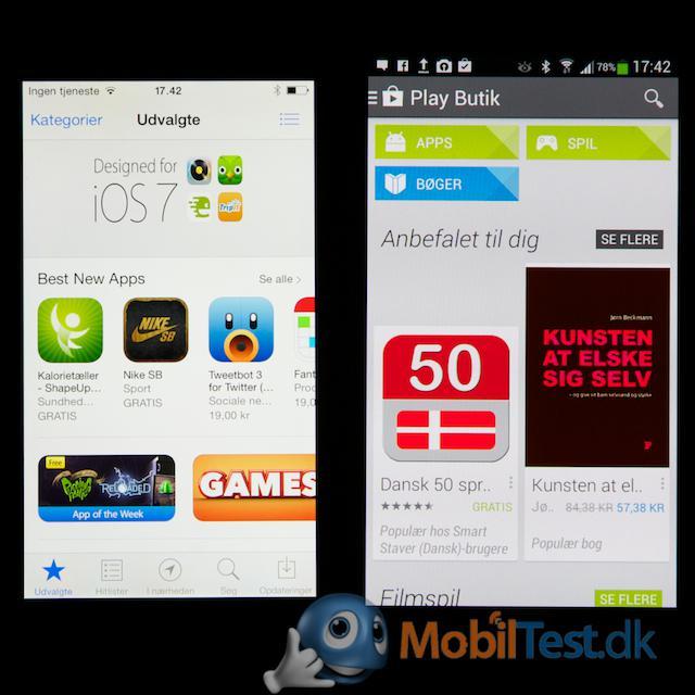 Appstore og Google Play