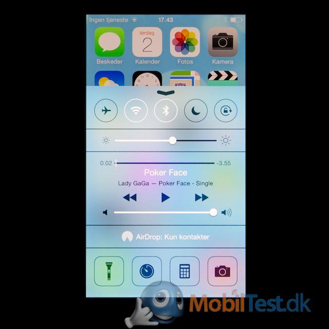 Træk op-menu på iPhone 5C