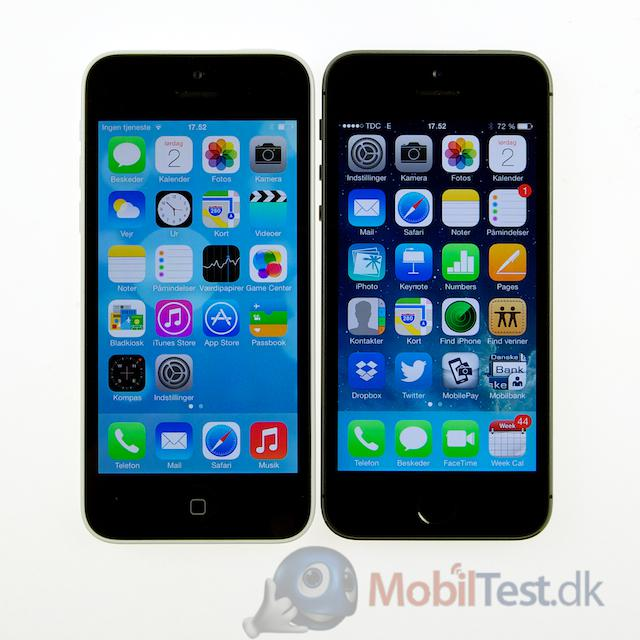 iPhone 5C vs. 5S - fronten