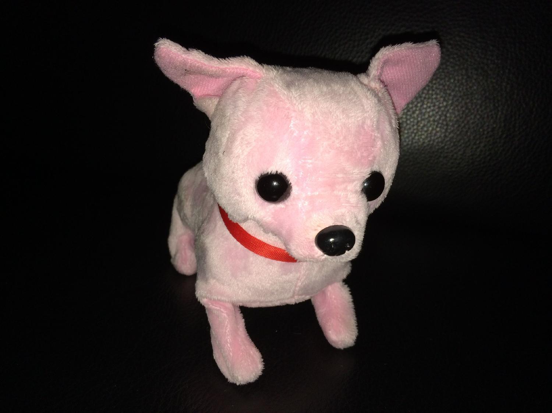 iPhone 5S' billede af en lyserød hund