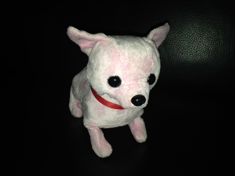 iPhone 5's billede af en lyserød hund