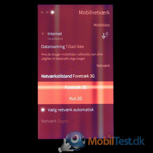 Kun GSM- og 3G-net