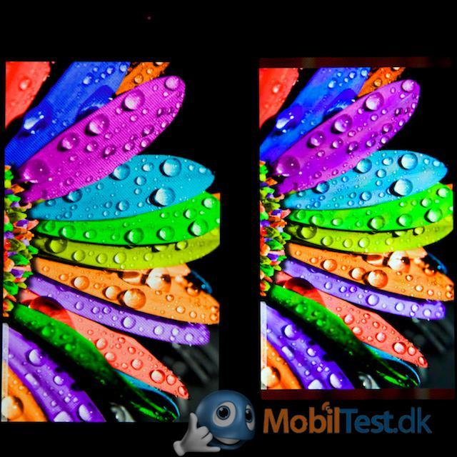Fine farver på Jollas skærm