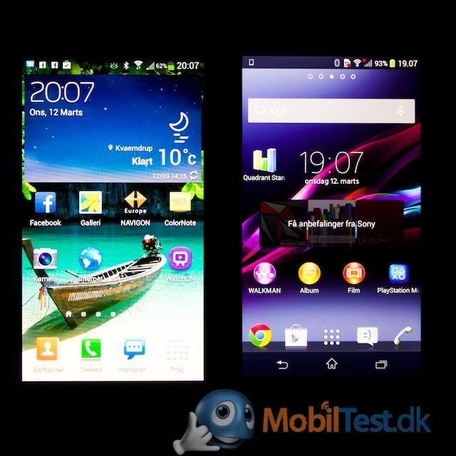 Galaxy S4 Mini og Xperia Z1 Compact