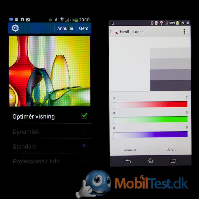 Farveindstillinger på Xperia Z1 Compact
