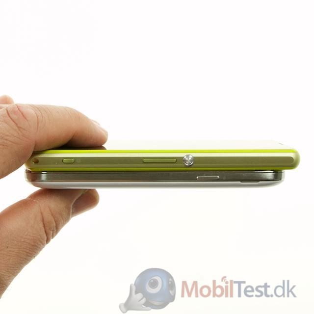Tykkelsen på Galaxy S4 Mini og Xperia Z1 Compact