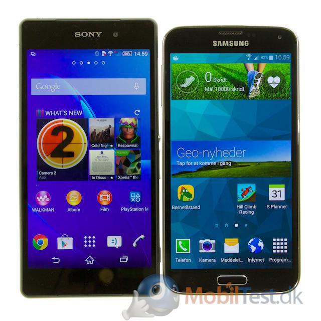Xperia Z2 og Galaxy S5