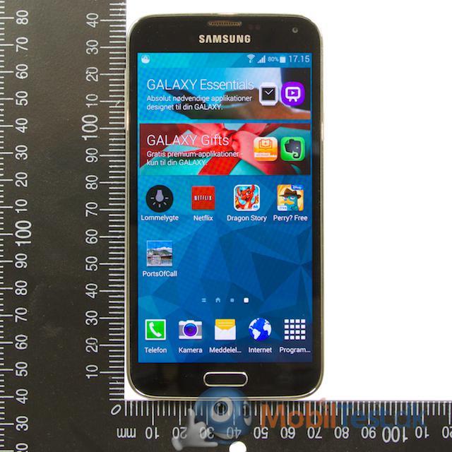 Galaxy S5 og målepind