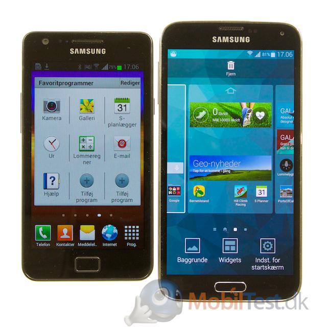 Den tre år gamle Galaxy S2 og S5