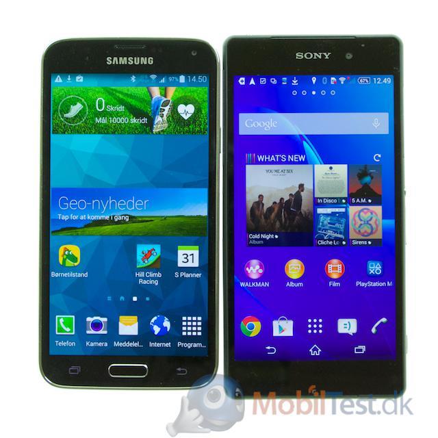 Galaxy S5 og Xperia Z2