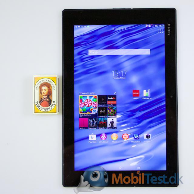 Z2 tablet og tændstikæsken