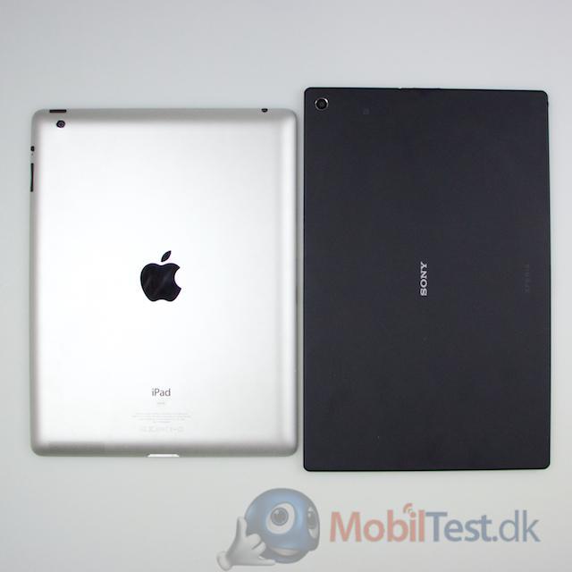 Bagside af iPad 3 og Z2 tablet