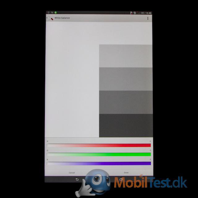 Tilpasning af farver på skærmen