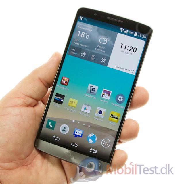 G3 er ikke ligefrem en lille telefon